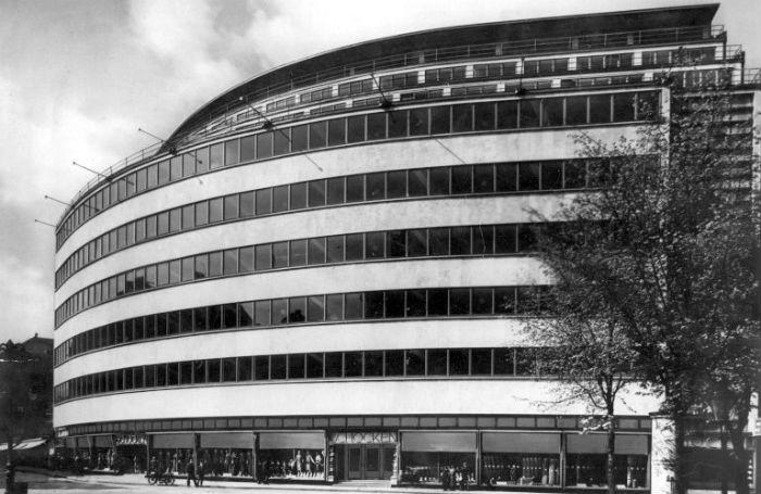 Gentil Schocken Department Store, Chemnitz, 1930 (Eric Mendelsohn) RIBA Collections